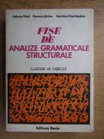 Anticariat: Valeriu Vlad - Fise de analize gramaticale structurale