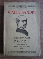 Anticariat: Vasile Alecsandri - Opere complete. Poezii (1941)