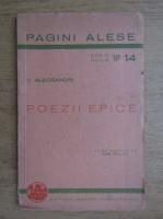 Vasile Alecsandri - Poezii epice (1943)