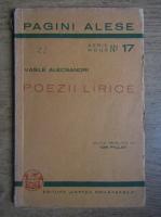 Vasile Alecsandri - Poezii lirice. Doine, lacrimioare, margaritarele (1936)