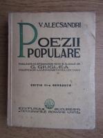 Vasile Alecsandri - Poezii populare (1933)