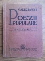 Vasile Alecsandri - Poezii populare (editie veche)