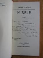 Anticariat: Vasile Andru - Mirele (cu autograful autorului)