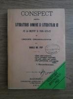 Anticariat: Vasile Gr. Pop - Conspect asupra literaturei romane si literatilor ei de la inceput si pana astazi in ordine cronologica