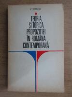 Vasile Serban - Teoria si topica propozitiei in romana contemporana