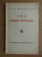 Anticariat: Victor Eftimiu - Oda limbei romane (1927)