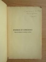 Anticariat: Victor Marcel - Etendue et conscience (cu autograful autorului, 1932)