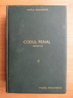 Vintila Dongoroz - Codul Penal adnotat (volumul 2, 1937)