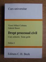 Viorel Mihai Ciobanu, Gabriel Boroi - Drept procesual civil. Curs selectiv. Teste grila