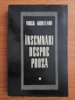 Anticariat: Virgil Ardeleanu - Insemnari despre proza