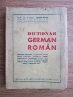 Anticariat: Virgil Tempeanu - Dictionar german-roman (1943)