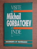 Visite de Mikhail Gorbatchev en INDE 18-20 novembre 1988