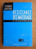 Vladimir Feodossiev - Resistance des materiaux