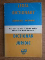 Anticariat: Vladimir Hanga - Dictionar juridic englez-roman