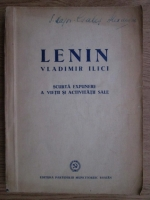 Anticariat: Vladimir Ilici Lenin - Scurta expunere  vietii si activitatii sale