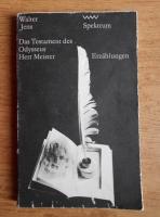 Anticariat: Walter Jens - Das Testament des Odysseus Herr Meister