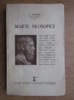 Anticariat: Z. Sandu - Siluete filosofice (1933)