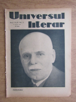 Anticariat: Ziarul Universul literar, anul XLIV, nr. 5, 29 ianuarie 1928